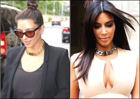 Kim Kardashian with chocker necklace