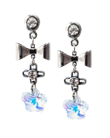 Dangle and drop earrings with Swarovski crystals