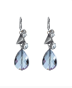 Dangle and drop earrings with Swarovski crystals and studs. - Maiden-Art.com