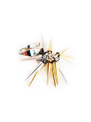Gold and Silver Spike Ring. - Maiden-Art