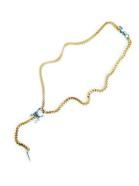 Lariat necklace with studs - Maiden-Art