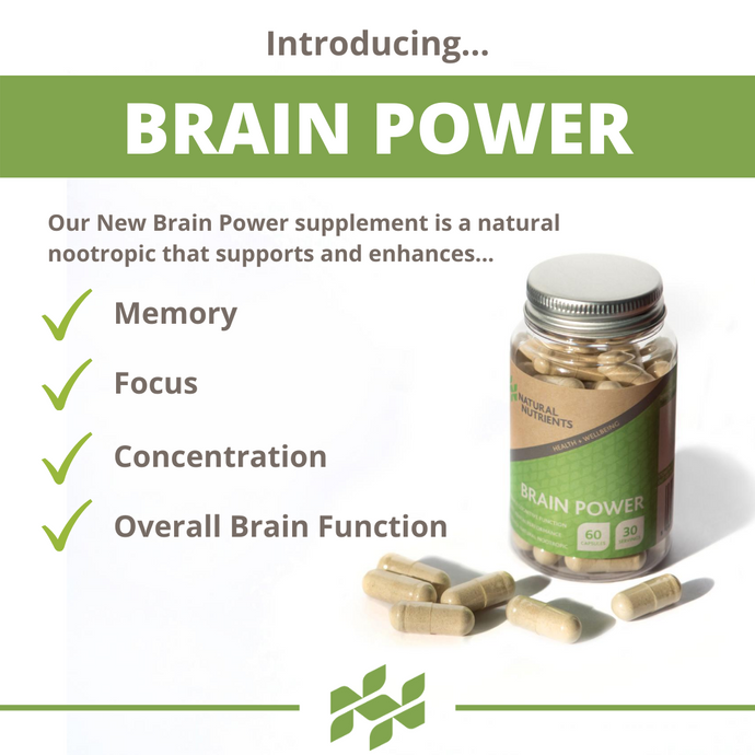 Introducing...BRAIN POWER - Our New Natural Nootropic