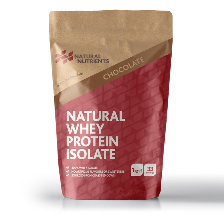 Natural Whey Protein Isolate | Grass Fed | Chocolate Flavoured Powder - 1KG