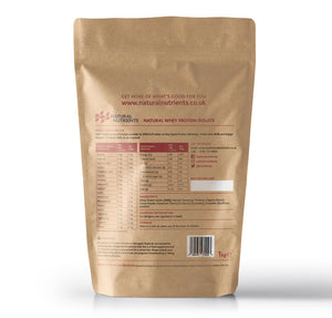 Natural Whey Protein Isolate | Grass Fed | Chocolate Flavoured Powder - 1KG Back