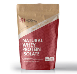 Natural Whey Protein Isolate | Grass Fed | Unflavoured Powder - 1KG