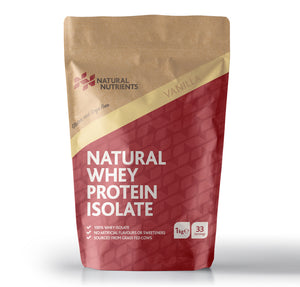 Natural Whey Protein Isolate | Grass Fed | Vanilla Flavour