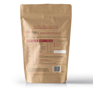 Natural Whey Protein Isolate | Grass Fed | Vanilla Flavour 1KG