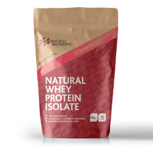 Load image into Gallery viewer, Natural Whey Protein Isolate| Grass Fed | Strawberry Flavoured Powder