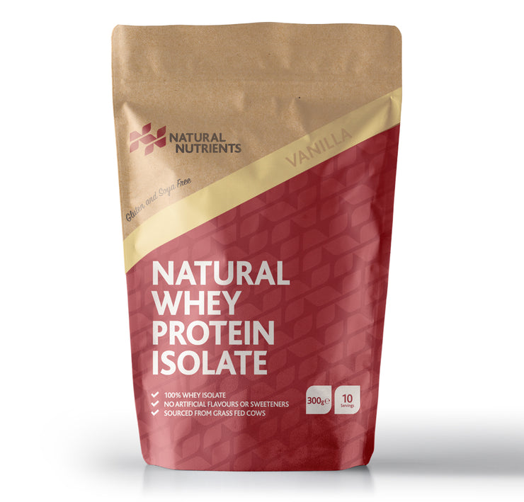 Natural Whey Protein Isolate | Grass Fed | Vanilla Flavoured Powder