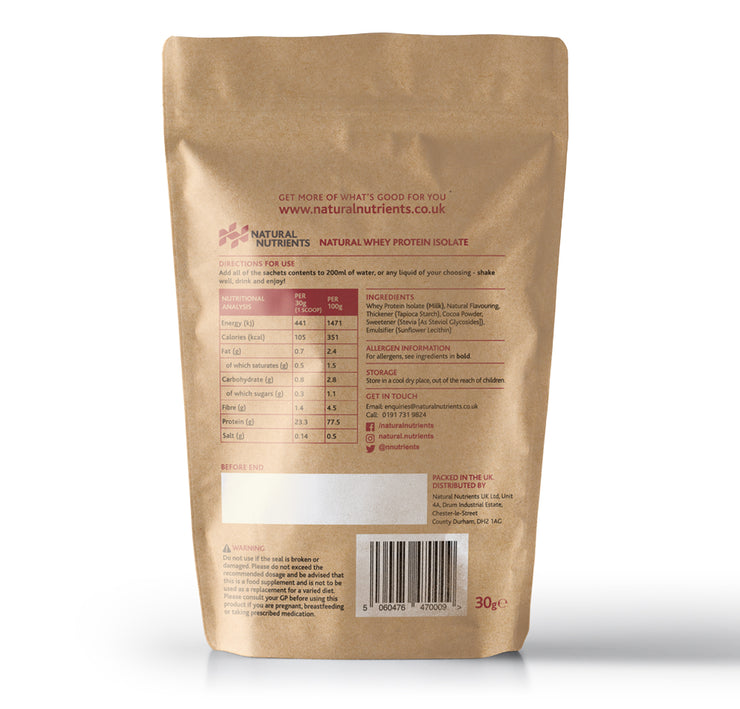 Natural Whey Protein Sample - Chocolate Flavour