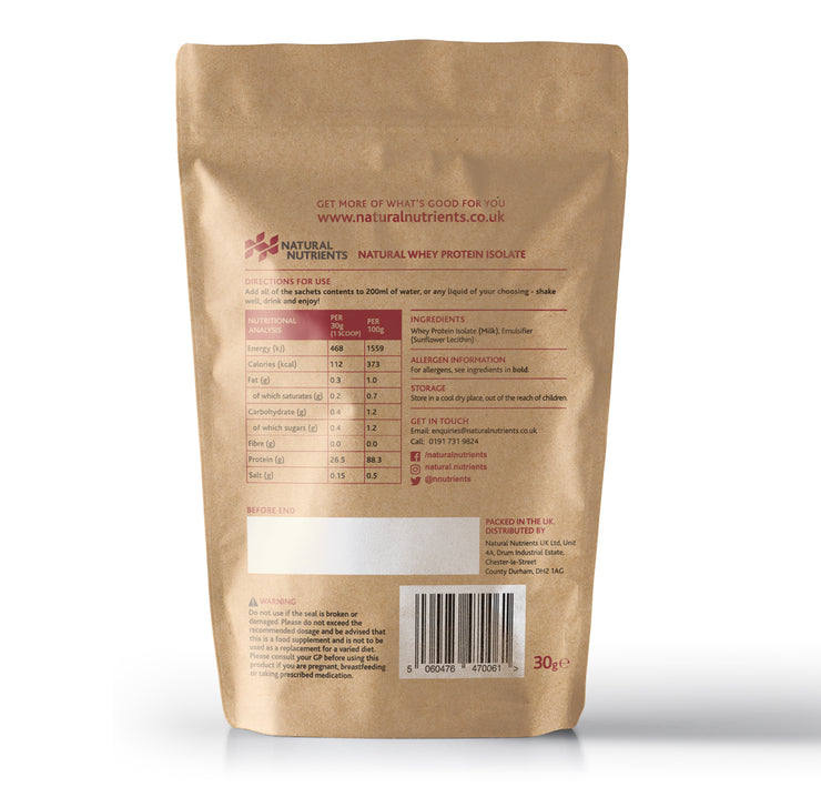 Natural Whey Protein Sample - 30G