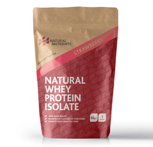 Natural Whey Protein Isolate - Strawberry Flavour