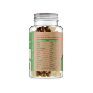 Digestive Enzymes Supplement -180 Capsules - Back