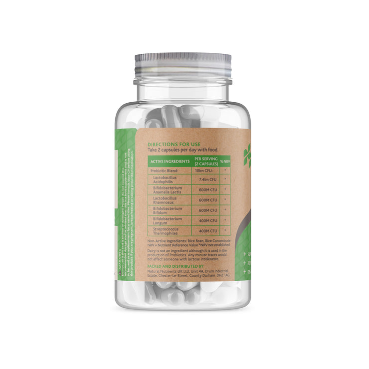 High Potency Probiotic Capsules | 10bn CFU&