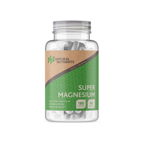 Magnesium Citrate and Bisglycinate Supplement - 180 Capsules