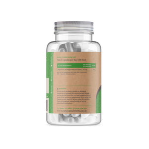 Magnesium Citrate and Bisglycinate Supplement - 180 Capsules Back