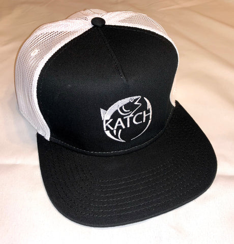 KATCH BRAND WHITE TRUCKER | BLACK HAT