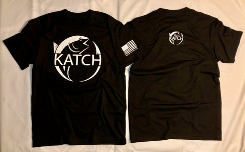 KATCH BRAND WHITE LOGO | BLACK TEE