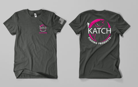 KATCH KREW BRAND COLOR - CHARCOAL TEE