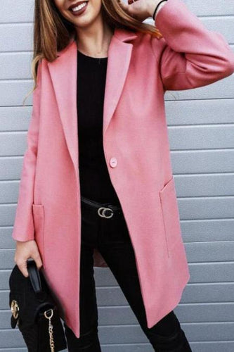 Fashion Long Sleeve Lapel Coat