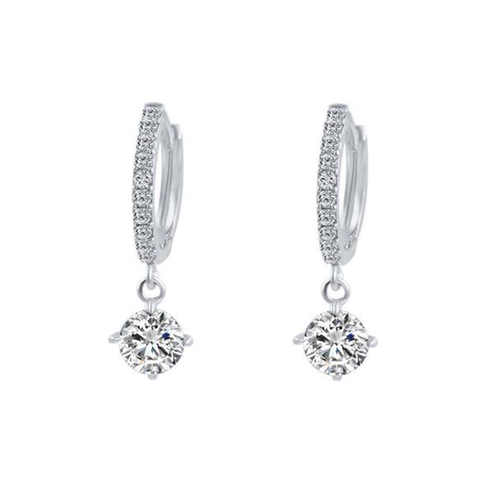 Basic Alloly Rhinestone Earrings