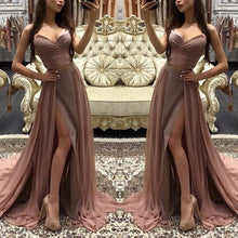 Load image into Gallery viewer, Off The Shoulder Split Evening Dress