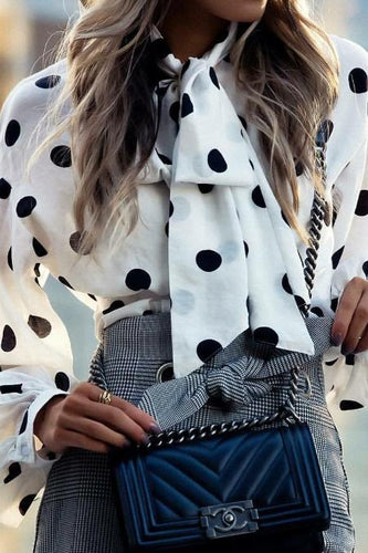 Fashion Polka Dot Long Sleeve Shirt