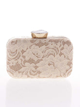 Load image into Gallery viewer, Decorative Lace Evening Clutch Bag
