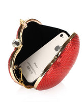 Load image into Gallery viewer, Glitter Heart Shape Evening Clutch Bag
