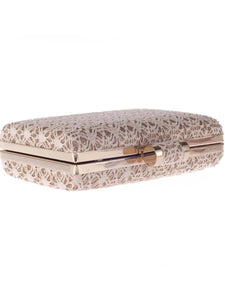 Decorative Squared Evening Clutch Bag