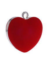 Load image into Gallery viewer, Red Heart Chain Evening Clutch Bag