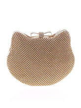 Load image into Gallery viewer, Kitty Shape Diamante Clutch Bag