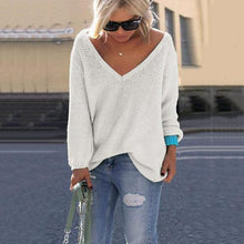 Load image into Gallery viewer, V Neck Loose Fit Sweater