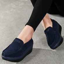 Load image into Gallery viewer, Plain  Faux Leather  Casual Flat & Loafers