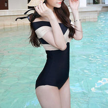 Load image into Gallery viewer, Sexy Cross Straps Off Shoulder One-Piece Swimwear