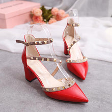 Load image into Gallery viewer, Fashion Rivets Sandals Comfortable High Heels Shoes