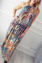 Load image into Gallery viewer, Halter  Printed  Sleeveless Jumpsuit