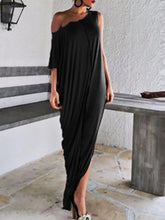 Load image into Gallery viewer, One Shoulder  Patchwork  Color Block Maxi Dresses