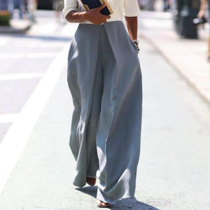Casual Loose Pure Color Irregular Long Pants