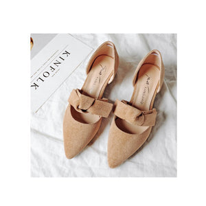 Fashion Pure Color Pointed Shoes