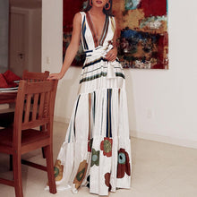 Load image into Gallery viewer, V-Neck Sexy Elegant Vacation Maxi Dress