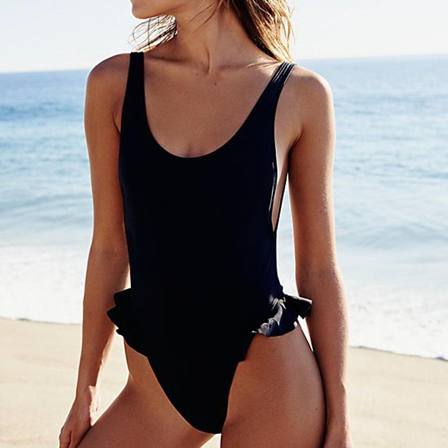 2018 New Style Ruffle One-Piece Swimwear