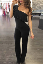 Load image into Gallery viewer, Elegant Sexy One Shoulder Slinky Jumpsuit