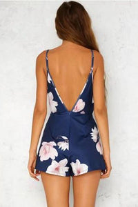 Sexy Fashion Floral Print Vacation Romper