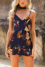 Load image into Gallery viewer, Sexy Floral Print Vacation Romper Mini Dress