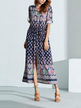 Load image into Gallery viewer, Bohemia Style Fashion Vacation Dress