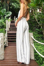 Load image into Gallery viewer, Sexy Elegant Striped Sleeveless Jumpsuit