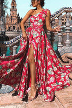 Load image into Gallery viewer, Sexy Floral One Shoulder Vocation Maxi Dress