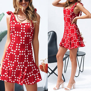 Casual Fashion Floral Print Sleeveless Mini Dress