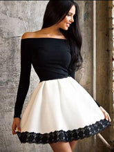 Load image into Gallery viewer, Sexy Off Shoulder Split Joint Lace Skater Dress